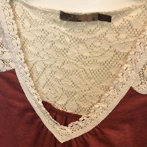 Prana Tops - prAna Burnt Red Crochet Boho Tank Top